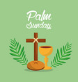 palm sunday holi week cross bread vector image vector image
