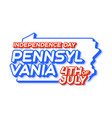 pennsylvania state 4th july independence day vector image vector image