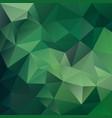 polygonal square background medium green vector image vector image