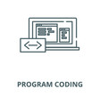 program coding line icon linear concept vector image vector image