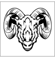 Ram head logo or icon in black and white vector image vector image