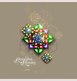 ramadan kareem abstract girih flower encrusted vector image
