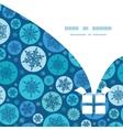 round snowflakes Christmas gift box vector image vector image