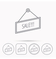 Sale icon Advertising banner tag sign vector image vector image
