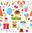 Seamless Birthday Pattern vector image vector image