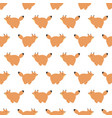 seamless pattern with cute cartoon foxes vector image