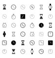 set different clock icons vector image vector image