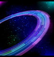 shining neon circles background vector image vector image