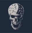skull moon head vector image vector image