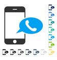 smartphone call balloon icon vector image