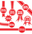 Special offer signs set special offer sticker set vector image vector image