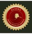 Star label Alaska vector image