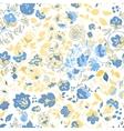 summer doodle seamless pattern Floral vector image