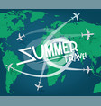 summer travel concept with aircrafts vector image vector image
