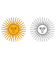sun of may - national emblem of argentina and vector image