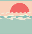 sunset over sea minimalism vector image vector image