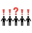 suspense and social group of people vector image vector image