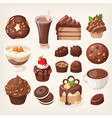 sweet chocolate treats and dessert vector image vector image
