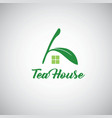 tea house logo template design vector image