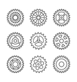 Thin line gears icon set vector image vector image