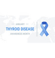 thyroid awareness month concept