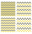 tile seamless pattern zig zag set vector image