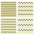 tile seamless pattern zig zag set vector image vector image