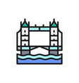 tower bridge london city landscape flat color vector image