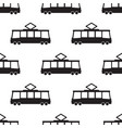 tram pattern in black vector image vector image