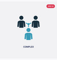 two color complex icon from people concept vector image vector image