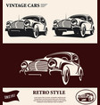 vintage car label vector image