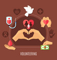 volunteer services charity composition vector image vector image