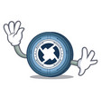 waving 0x coin character cartoon vector image vector image