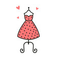 women fashion logo design template dress emblem vector image vector image