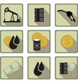 oil flat icon vector image