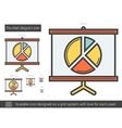 Pie chart diagram line icon vector image