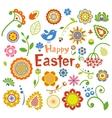 Set of Easter ornamental elements vector image