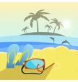 summer beach slippers and vector image