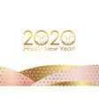 2020 year rat new years card template vector image vector image