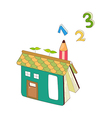 A book shaped house vector image vector image