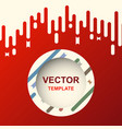 abstract banner design template with red vector image