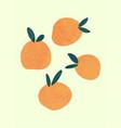 abstract hand drawn orange abstract fruits boho vector image