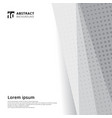abstract template design halftone white and grey vector image vector image