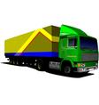 al 0407 truck 02 vector image vector image