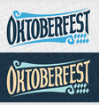 banners for oktoberfest vector image vector image
