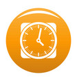 clock retro icon orange vector image vector image