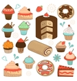 Colorful sweets menu collection vector image vector image