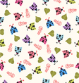 Cute background with ladybugs vector image vector image
