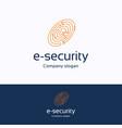 e-security vector image