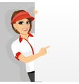 female fast food restaurant employee vector image vector image
